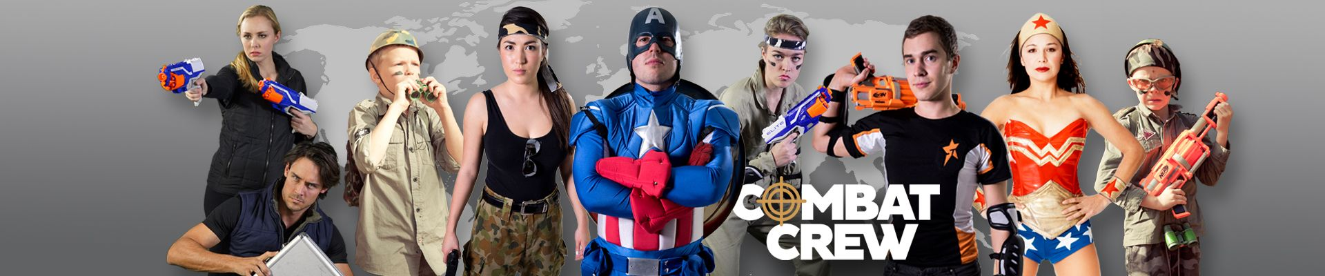 image NERF War Party Sydney Combat Crew Superheroes Inc