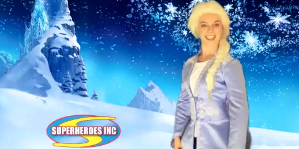 Elsa for Zoom Kids Parties Entertainment Sydney Zoom Virtual Event Superheroes Inc.